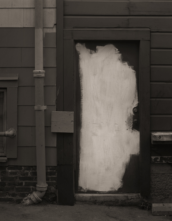 Partly Painted Door, Taber Place, 2014