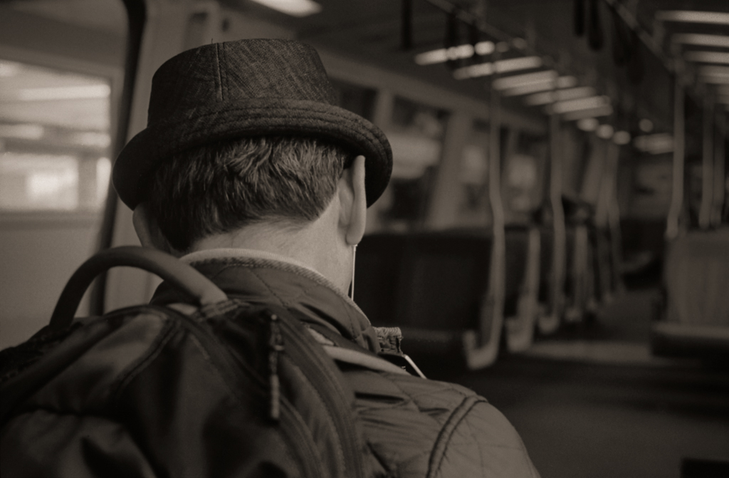 Pork Pie Hat, BART Train, 2015
