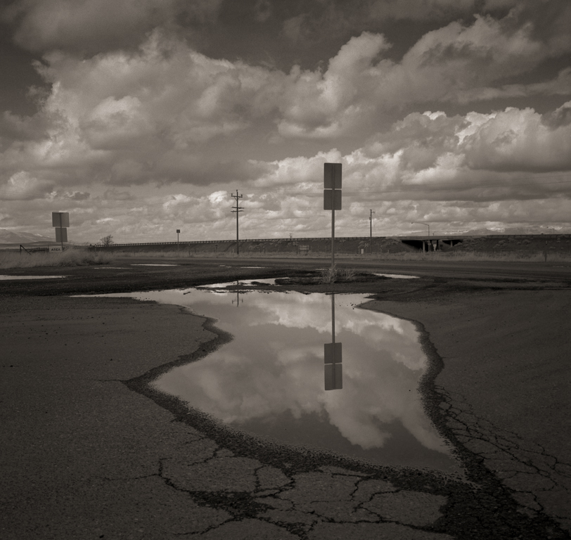 Reflecting Pool, Valmy Rest Area, 2014