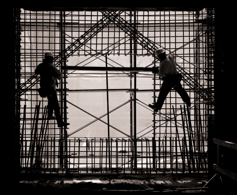 Workers on Rebar, P. G. & E. Seismic Retrofit, 1994